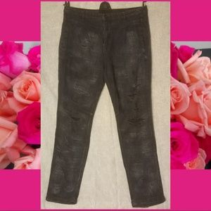 Free People Destroyed Jean Pants Straight 32x28""